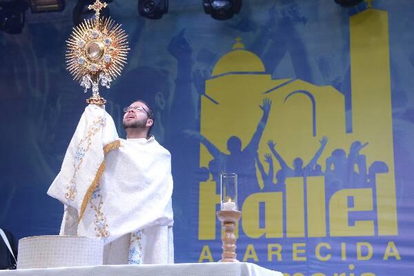 Semana da Juventude abre o evento com participação das dioceses. (Foto: Thiago Leon/Santuário de Aparecida)