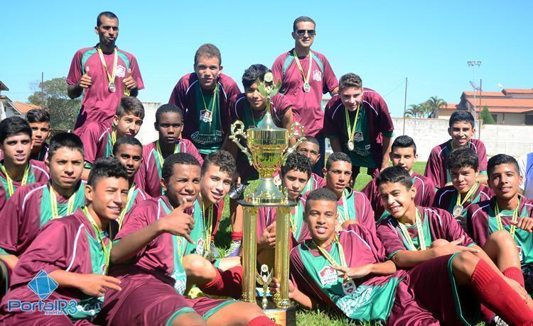 Em Pinda, Fluminense conquista título invicto no futebol Sub15
