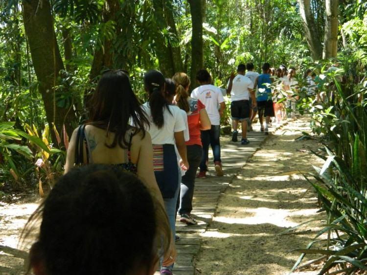 Os que visitam esse ambiente educativo contemplam mais de 30 anos de trabalho de recuperação da Mata. (Foto: Divulgação)