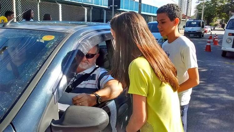A atividade foi acompanhada pela Prefeitura, com apoio dos agentes de trânsito e da equipe de educadores da Secretaria de Transportes. (Foto: Divulgação/PMSJC)