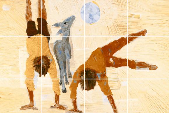 Na imagem, a obra Meninos Brincando (1955). (Imagem de divulgação)
