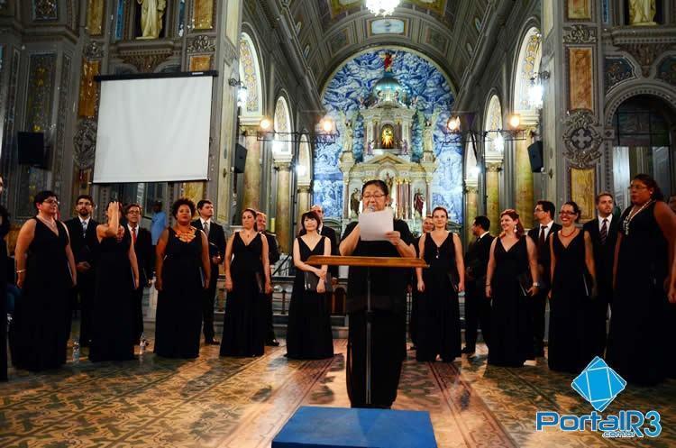 Coro da OSESP durante apresentação na Matriz em 2014. (Foto: Luis Claudio Antunes/PortalR3)