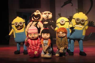 Peça infantil 'Meu Malvado Favorito e os Minions' em cartaz neste final de semana no Teatro Colinas. (Foto: divulgação)
