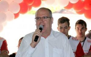 O prefeito João Luiz do Nascimento Ramos durante a abertura do programa. (Foto: Divulgação/PMCP)
