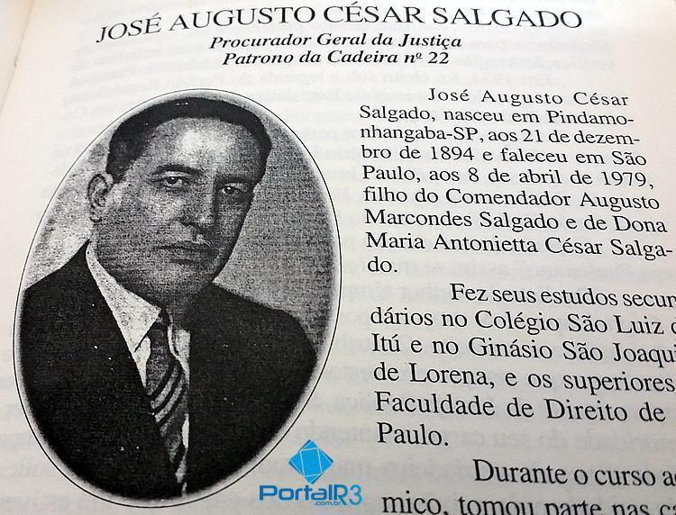 História: O pindamonhangabense José Augusto César Salgado