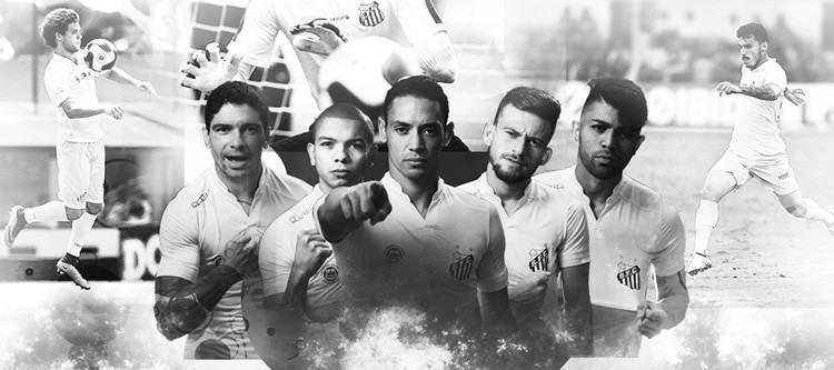 Santos comemora mais um título do Paulista. (Arte  Site oficial do Santos FC 0013db9e26070