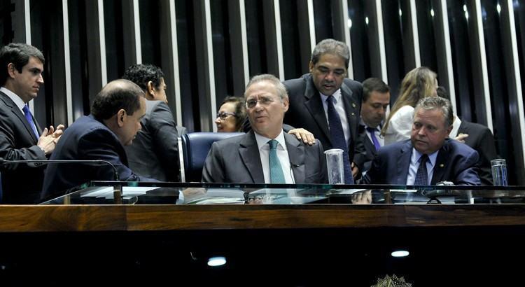 Os senadores votaram no painel eletrônico. Não houve abstenções. Estavam presentes 78 senadores. (Foto: Geraldo Magela/Agência Senado)