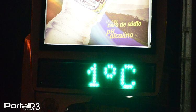 Quem vem à Campos, procura frio. No dia 14, por volta das 23h, estava 1ºC. (Foto Luis Claudio Antunes/PortalR3)