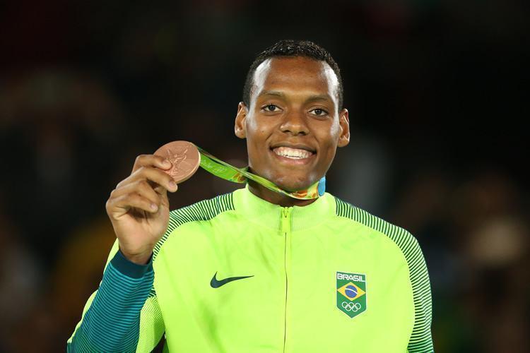 Pódio de Maicon de Andrade Siqueira/Brasil, Medalha de Bronze. Arena Carioca 3, Parque Olímpico. Foto: Saulo Cruz/Exemplus/COB