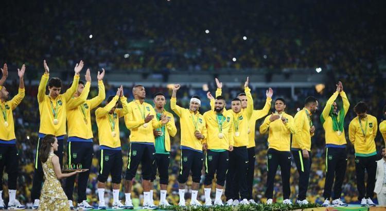 Brasil na cerimônia de premiação. (Foto: Roberto Castro/ Brasil2016)