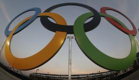 Anéis olímpicos. (Foto: Fernando Frazão/Agência Brasil)