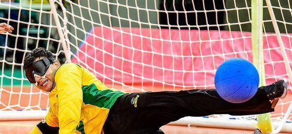 Atleta paralímpico no goalball. (Foto: Divulgação/CPB)