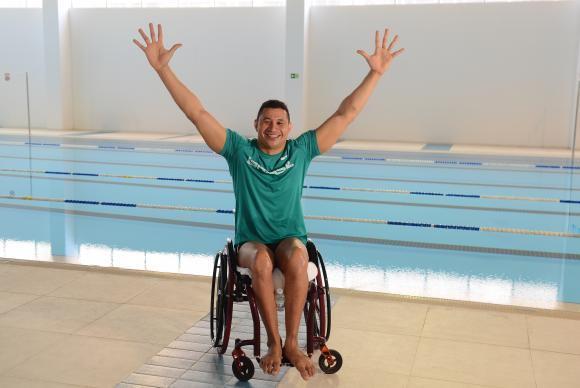 """O nadador Clodoaldo Silva diz que não há nervosismo por nadar em casa. """"Essa pressão nos faz bem"""". (Foto: -Rovena Rosa/Arquivo Agência Brasil)"""