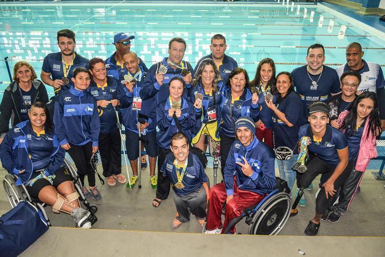 Equipe natação PCD de São José dos Campos. (Foto: Artur Marega/PMSJC)
