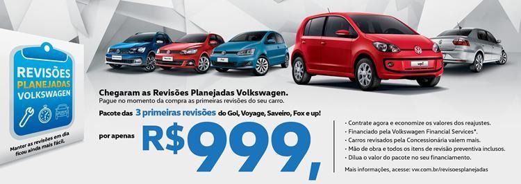 Volkswagen lança pacote inédito de três anos de revisões pré-pagas