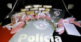 Apreendidos 8 kg de maconha e 1,5 kg de cocaína no Mombaça em Pinda