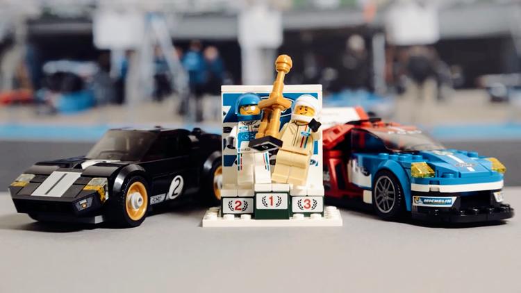 Lego lança carros clássicos da Ford em provas da Le Mans