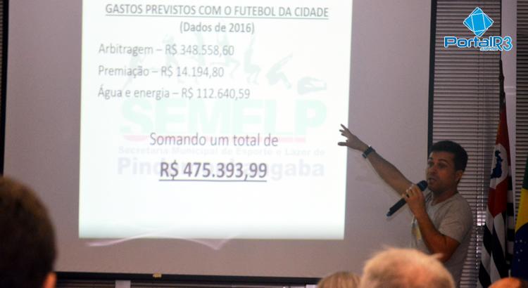 Em Pinda, futebol e despesas com campos custaram R$ 475 mil em 2016