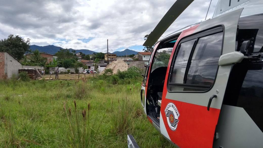 Vítima de assalto em Tremembé é socorrida por Helicóptero Águia